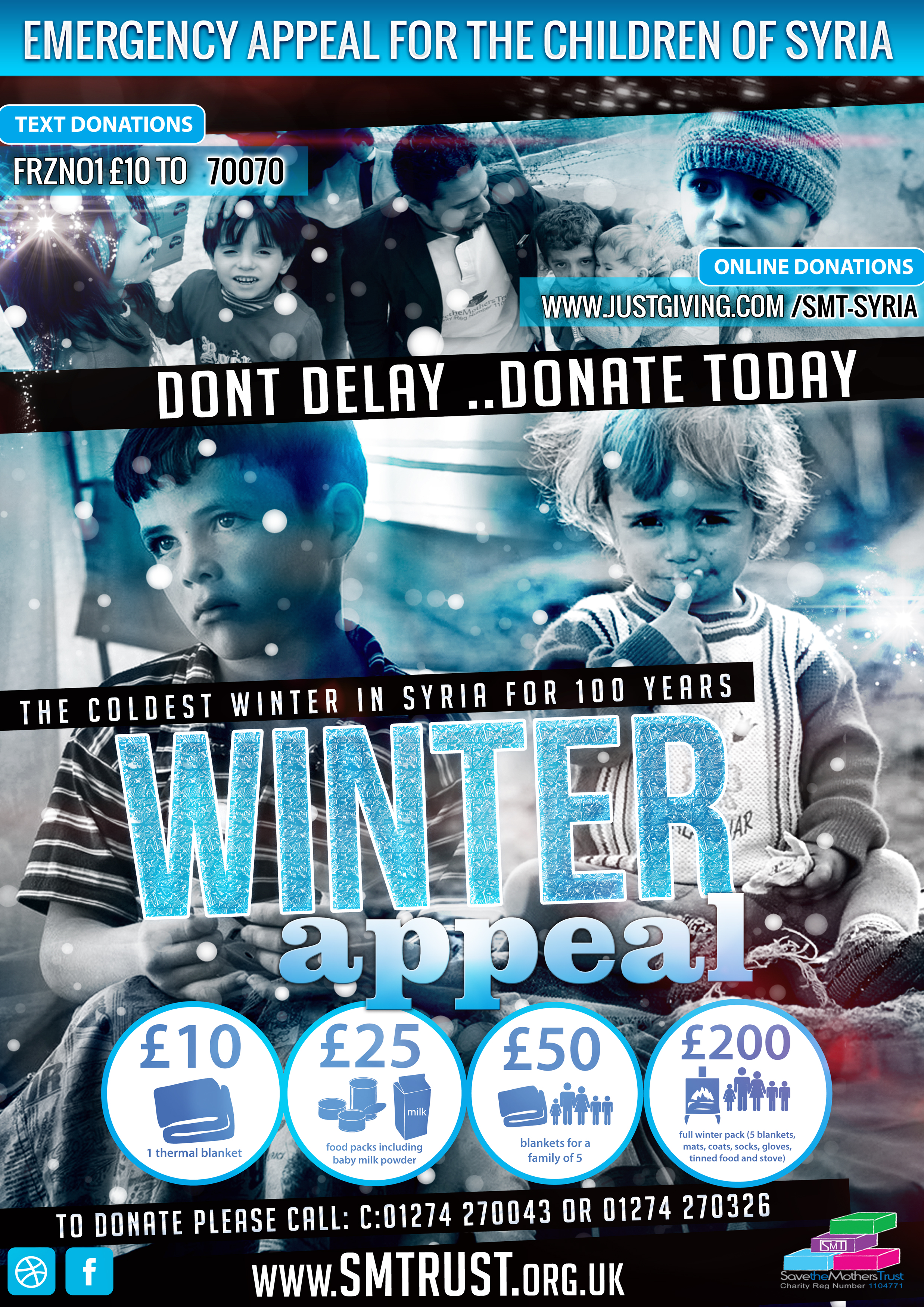 Poster appeal for syria winter campaign 2014.